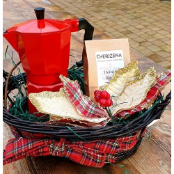 Espresso Coffee Pot Gift Basket